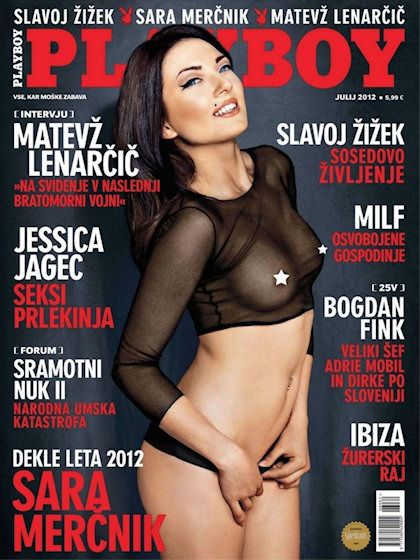 Playboy (Slovenia) July 2012  with Sara Merčnik on the cover of the magazine