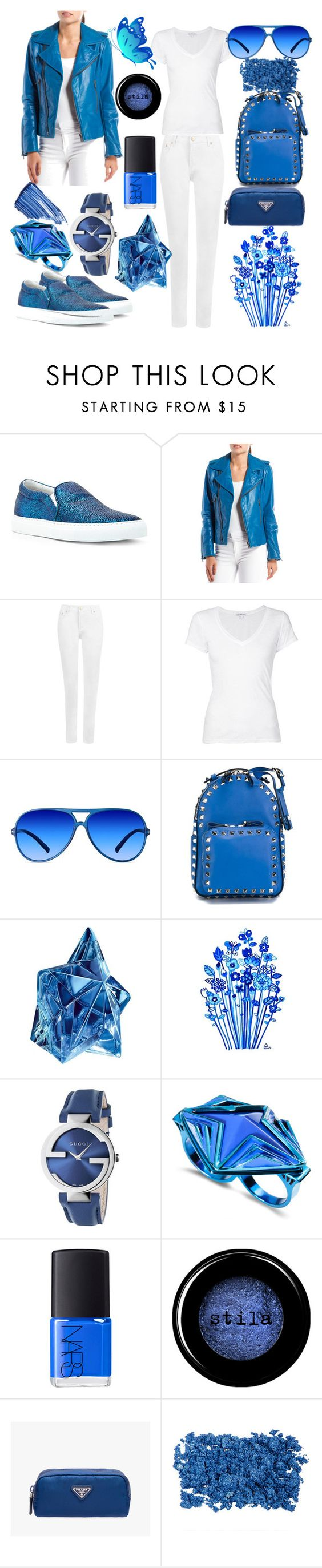 Outfit #104 by sofi6277 on Polyvore featuring James Perse, Balenciaga, WearAll, Joshua's, Valentino, Gucci, Eddie Borgo, X-Ray, Stila and By Terry