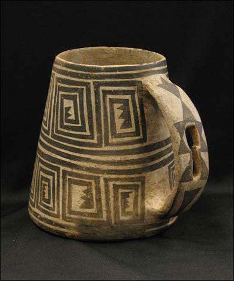 Pueblo ceramic mug ( 900 – 1300 AD ) #ceramics #pottery: