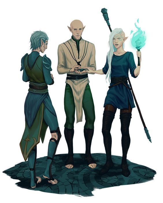 dedicant of the druids // solas from dragon age Minecraft Skin