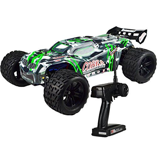 Fullfunrc Electric Cobra Ebd Rc Truck With 2 4ghz Radio 8 4v Vehicle Battery And Charger Included 1 8 Scale Monster Trucks Rc Cars Brushless Rc Cars