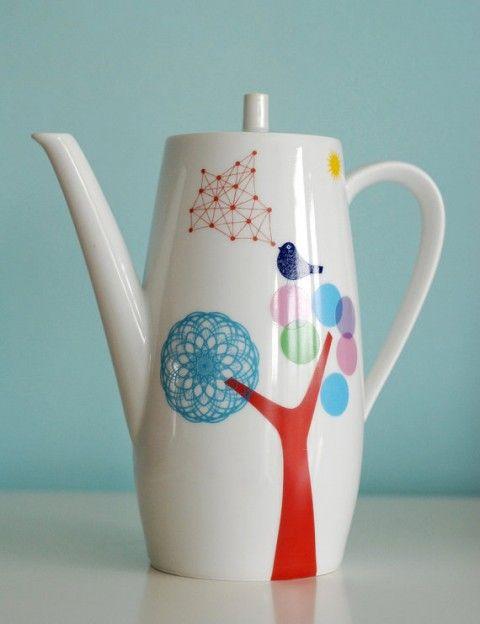 Bird Teapot: Unusual Teapot, Tea Pot, Coffee Pot, Teapots Sets Birds, Bird Teapot, Modern Teapot, Colorful Teapot