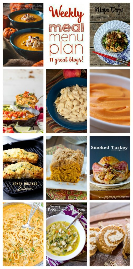 WEEKLY MEAL PLAN (WEEK 71)– 11 great bloggers bringing you a full week of recipes including dinner, sides dishes, and desserts!
