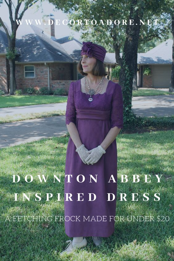 A Downton Abbey Inspired Dress