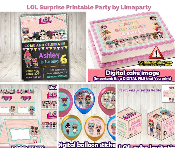 LOL Surprise Printable Party by Limaparty