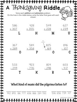 Thanksgiving Math Worksheets And 3rd Grade Multiplication Activities Thanksgiving Math Thanksgiving Math Activities Thanksgiving Lessons
