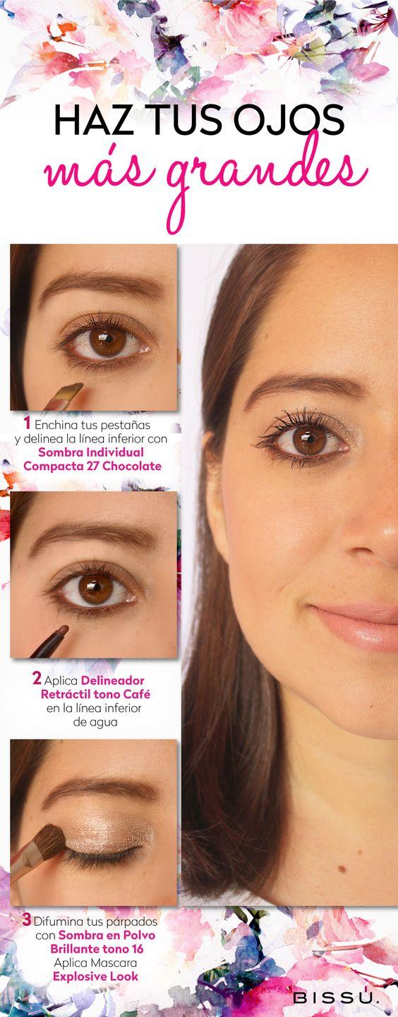 Enamora con tu mirada. Prueba este tip para hacer que tus ojos se vean más grandes.