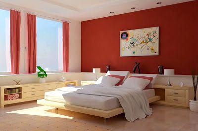 صور  بويات غرف النوم  بحوائط حمراءلغرف النوم