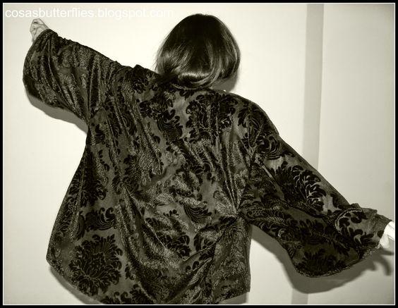 Diy Tutorial y Patrón de  Kimono Terciopelo