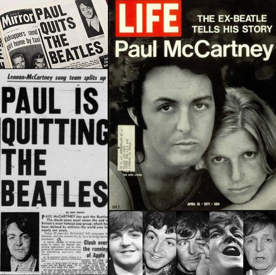 """History on Twitter: """"9 April 1970. Paul McCartney announced that he was leaving The Beatles.… """""""