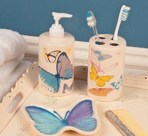 Spring Butterfly Bathroom Accessories - Bathroom Decor OTC http://www.amazon.com/dp/B00JSYDV7I/ref=cm_sw_r_pi_dp_Xf1kub0RDPD9M