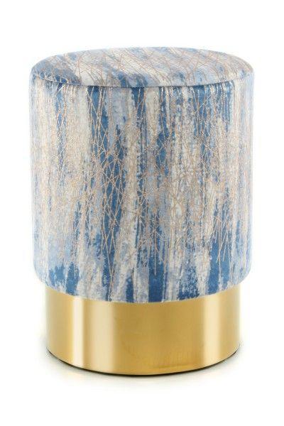 Hocker Gipsy 125 Blau Gold Online Mobel Hocker Wohnzimmer Dekor
