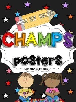 I have created CHAMPS posters to fit the needs of my classroom, and figured I'd share it with all of you, too. There are posters for the following:CentersWriting WorkshopIndependent WorkPartner WorkWhole Group InstructionVoice LevelsPlaygroundBathroomI have also included the blank posters for you to use as a template if your needs are a little different.Happy CHAMPing!