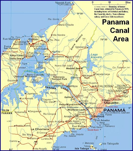 Panama Canal Map Of The Canal Area Dont Just Visit The Panama - Map panama