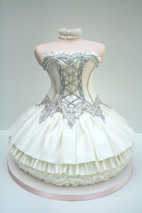 Special Cake Design Ballet Dress ♥ Tea Party Unique, douche nuptiale de douche de mariage ou idées gâteau