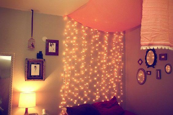 fairy lights bedroom