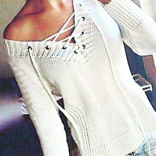 Closet Lit: [Loja Virtual] Blusa de Trico Cordao