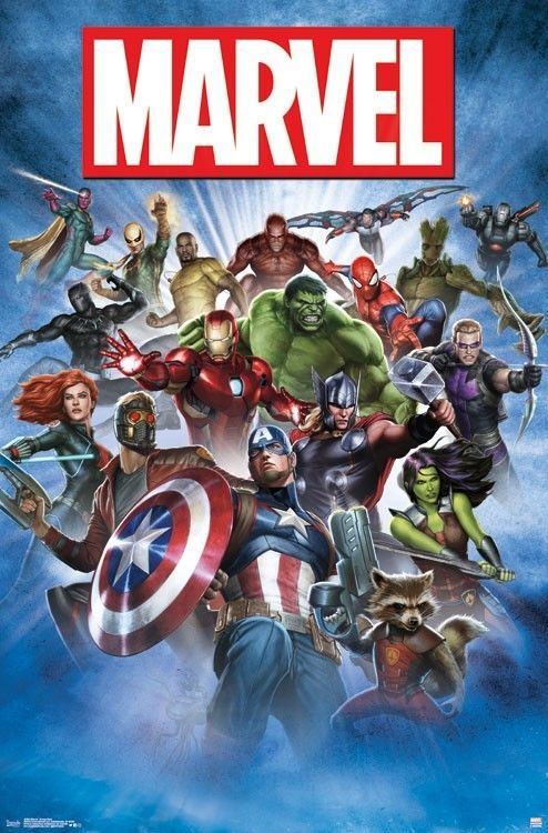 MARVEL COMICS POSTER Amazing Group Cast Collage RARE HOT NEW 22x34