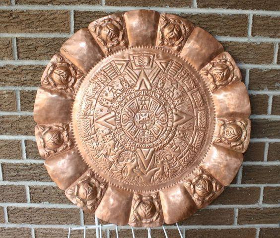 Aztec aztec calendar and decor on pinterest for Aztec decoration