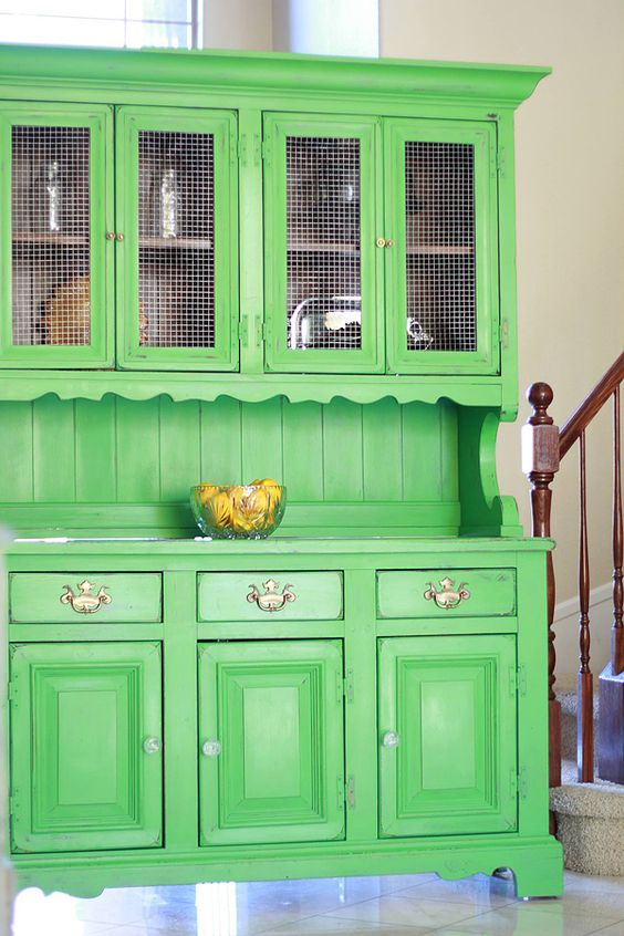 Green-Hutch-painted-by-The-Shabby-Bride-with-BB-Frosch-Chalk-Paint-Powder.jpg 600×900 pixels