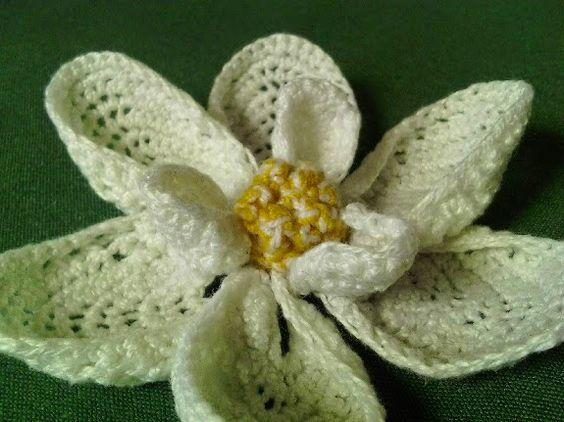 Free Crochet Magnolia Flower Pattern : Free Pattern: crochet; Magnolia Bloom Crochet - Knit ...