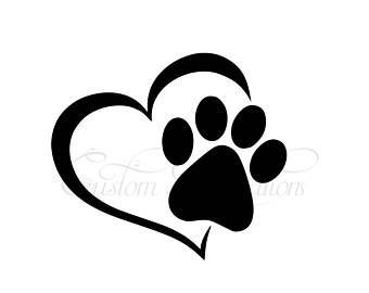 Infinity Paw With Heart Svg Dog S Paw Svg Heart And Paw Etsy In 2020 Paw Template Svg Dog Paws