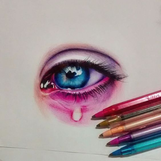 """My drawing❤ ( BIC pens )"""