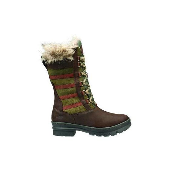 Keen Women's Wapato Tall WP Boots (2 100 ZAR) ❤ liked on Polyvore featuring shoes, boots, burnt olive, water proof shoes, tall suede boots, waterproof shoes, olive green suede boots and olive shoes