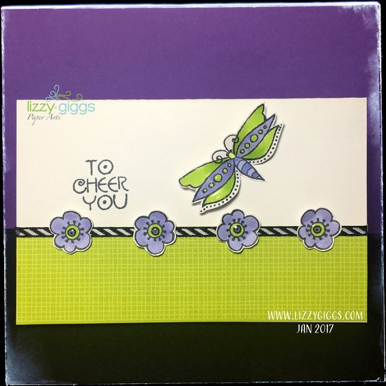 """I really enjoyed making this simple card using """"Floral Greetings"""" from a new line of Stamps by Stampendous & Laurel Burch."""