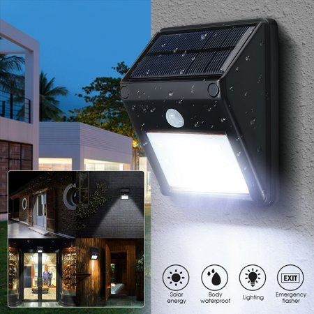 Grtsunsea 2pcs 12 Led Waterproof Solar Powered Pir Motion Sensor Light Home Security Wall Light Lamp Patio Lighting Landscape Lighting Design Backyard Lighting