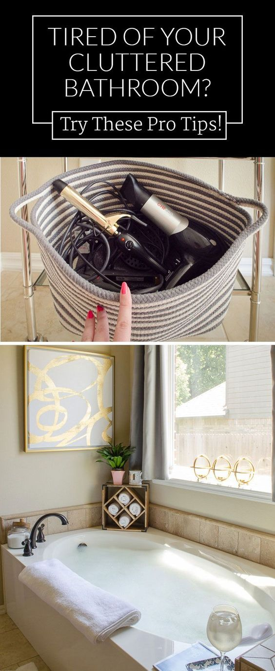 I NEED THIS! Clutter in the bathroom makes me crazy. / Organize and decorate your master bathroom at the same time with these clever tips for organizing your bathroom in style.:
