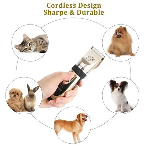 The Homegroomer Low Noise Pet Hair Clipper Geniemania Dog Clippers Pet Grooming Tools Pet Grooming
