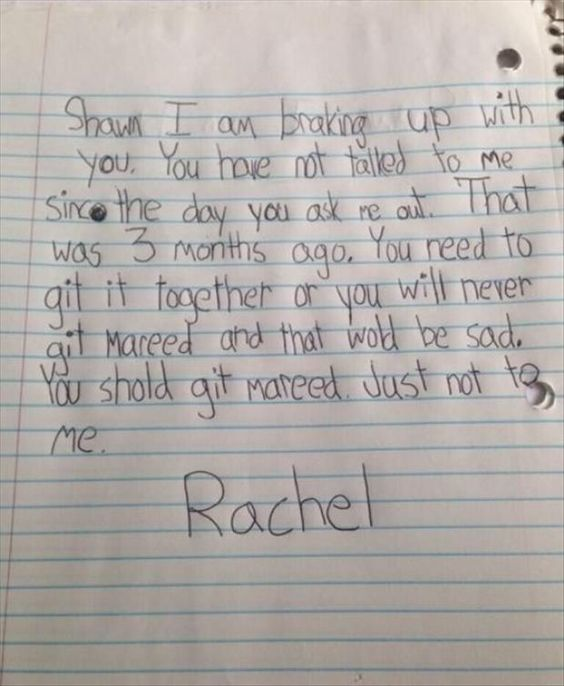 The  Best And Worst Breakup Letters WeVe Seen Ouch   Https