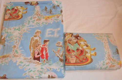 E.T. Twin Bed Sheet Set Flat Fitted 1982 Extra Terrestrial