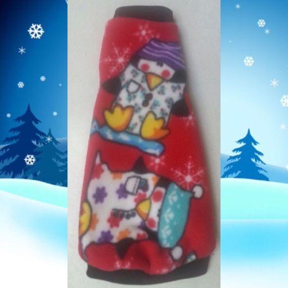 """Penguin Fleece """"Just Chillin"""" Christmas fleece for you Sphynx, Devon Rex, Peterbald, Cornish Rex, cat."""