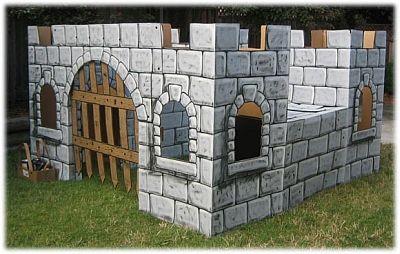cardboard castle paint idea