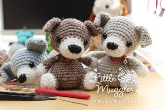 11 Amigurumi Dog Crochet Patterns – Cute Puppies - A More Crafty Life | 375x563