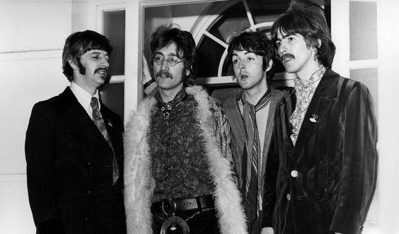 1967: Ringo Starr, John Lennon, Paul McCartney, George Harrison. Foto: Stella pictures