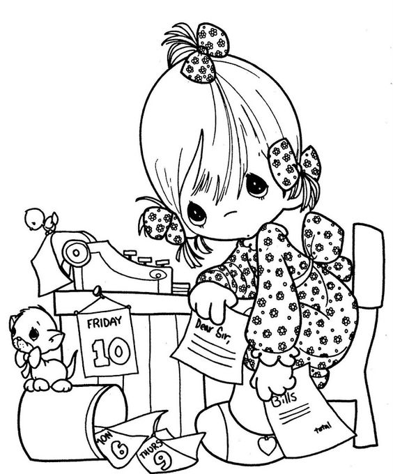 coloring pages of secretaries - photo#20