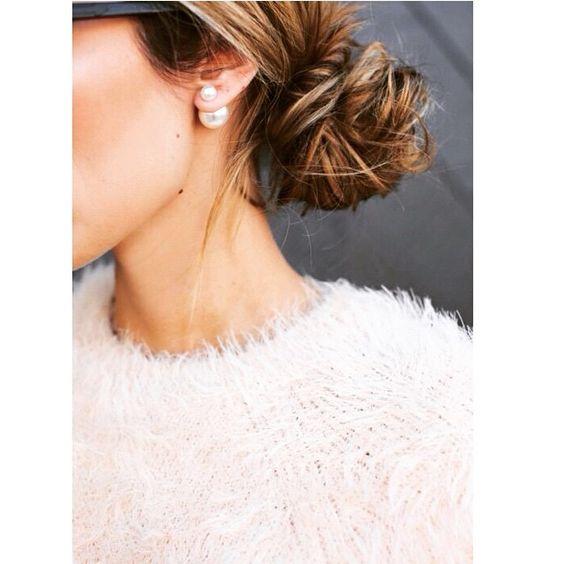 Love a low bun! #hair #goals #style #stylish #fashion #inspo #hairinspo #instahair #instastyle #instafashion #instalook #igstyle #igfashion #ighair #dior #christiandior #earings #love #glam #pearls #instafashion #instastyle #pretty #streetstyle #streetfashion #likes #photo #photooftheday #tweegram