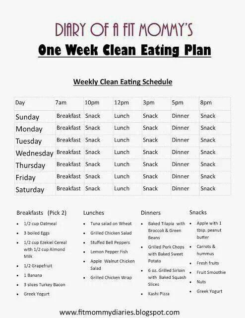 14 day Clean Eating Meal Plan for the Whole Family! Health - healthy meal plan