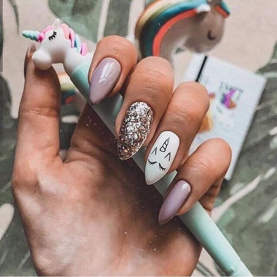 Discovered By Fashion And Beauty Find Images And Videos On We Heart It The App To Get Lost In What You Love Unicorn Nail Art Stylish Nails Art Unicorn Nails