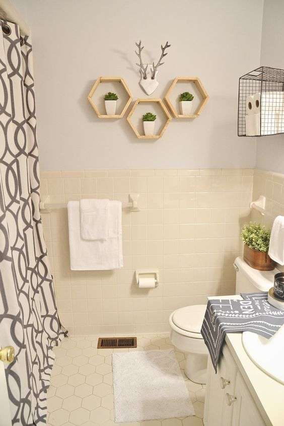 Rental bathroom bathroom makeovers and shelves on pinterest for Bathroom ideas for renters