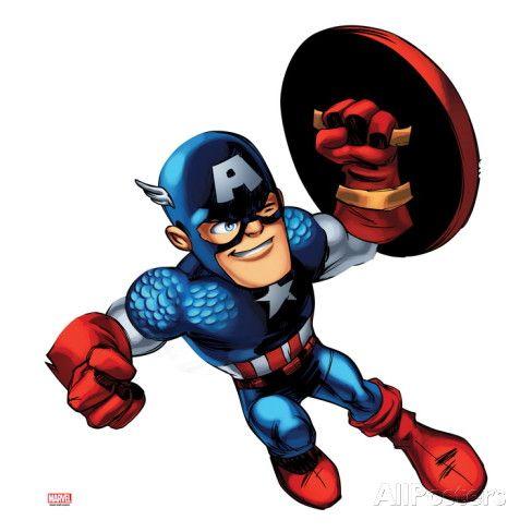 Marvel Super Hero Squad: Captain America Jumping Prints at AllPosters.com