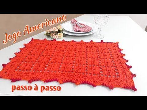Jogo Americano Em Croche Facil Para Iniciantes Edilene Fitipaldi Youtube Jogo Americano De Croche Jogo Americano Chapeus De Criancas De Croche
