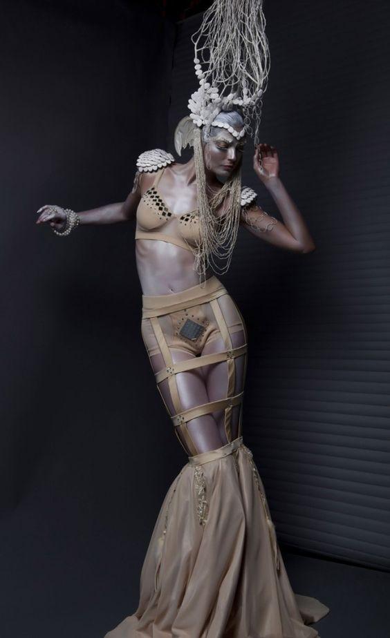 """Dark Arts"" for Dark Beauty Magazine - Photographer: Djeneba Aduayom /  Designers: Marzia Paparini, Fabio Gianpietro, Marika Soderlund-Robison, Sean Puruker, and Swig Miller."