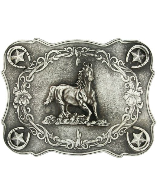 Awh how awesome is this?? Galloping horse Antiqued Attitude Buckle by Montana Silversmiths