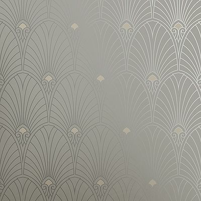 Mid century wallpaper.  Bradbury Art Deco Designs | Havana Retro Wallpaper in Pewter: