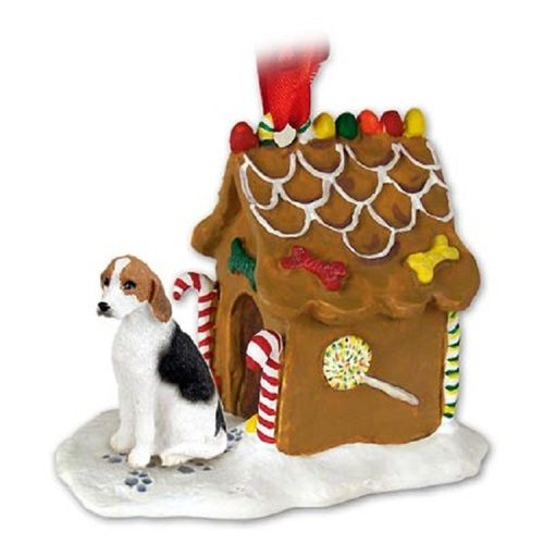 American Foxhound Gingerbread House Ornament