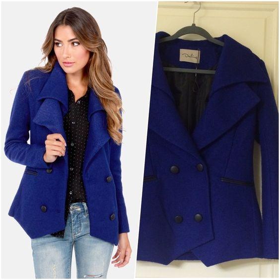 Rue 21 Royal Blue Pea Coat   Rue 21 Pea Coat and Royal Blue